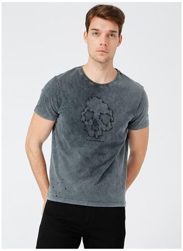 Black On Black Black On Black Nice Antrasit Erkek T-Shirt Antrasit
